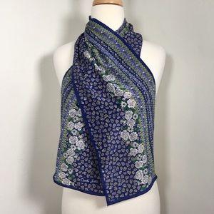 "Carole Little silk scarf 10"" x 50"" floral"